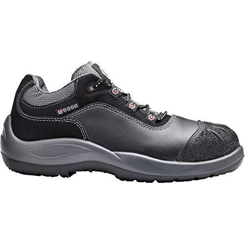 BASE Sicherheits-Halbschuh Sicherheits-Schuh Arbeitsschuh MOZART - S3 SRC BGR191 - schwarz- Größe: 46