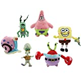 EASTVAPS 6pc / Lot Bob Esponja Peluche Juguete Patrick Star...