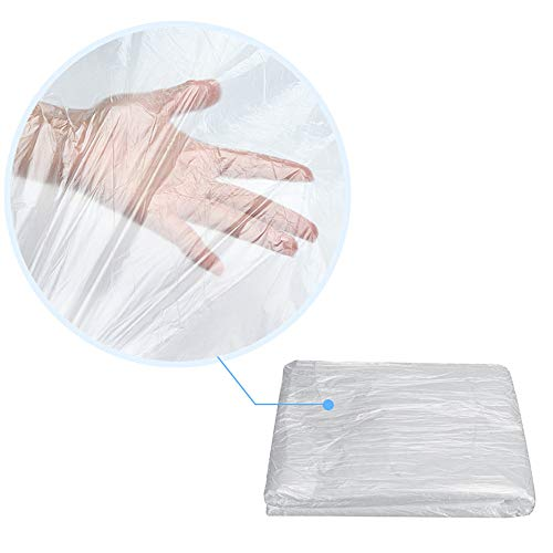 100 Pcs Disposable Bedspread Cover SPA Massage Treatment Table Sheets Transparent Beauty Bed Waterproof Film Couch