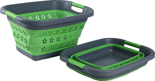 Roaming Cooking Collapsible Plastic Laundry Basket | Heavy Duty, Space Saving Hamper with Sturdy Handles – Great for Easy Storage | Convenience Shouldn't Be Bulky