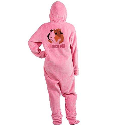 CafePress - Retro Guinea Pig 'Elsie' (White) - Novelty Footed Pajamas, Funny Adult One-Piece PJ Sleepwear