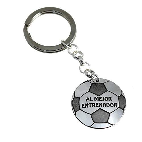 Minoplata Llavero Al Mejor Entrenador de Plata de Ley un Regalo Ideal