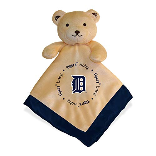Detroit Tigers Blue Baby Security Snuggle Bear Blanket - 14' x 14' MLB Infant Gift Set
