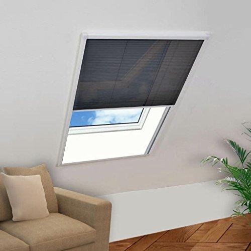 RIKOJ Insektenschutz-Fenster Plisse 160 x 110 cm