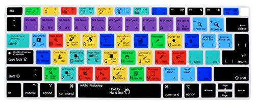 WYGCH Photoshop PS Shortcuts Hotkey Keyboard Cover Compatible with MacBook Air 2018 [13.3 inch A1932...