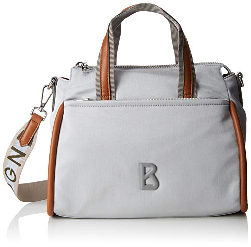Bogner Damen Lech Hanna Handbag Shz Henkeltasche, Silber (Silber (Silver), 16.0x23.0x31.5 cm