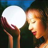 SCJS LED-Nachtlichter, Fernbedienung Mondlicht, wasserdichte Dekoration Nachtlichter, 16 Farben änderbar für Gartenpool Landschaft (Farbe: 25 cm)