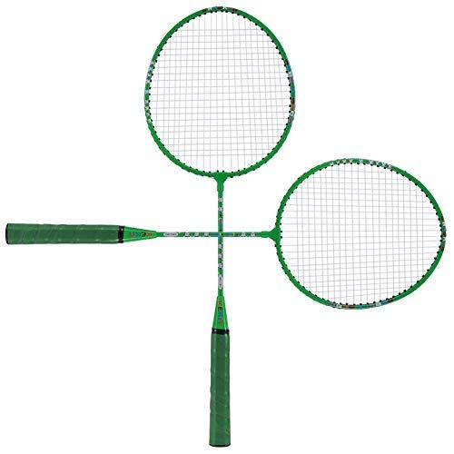 Keenso - Raqueta de bádminton para niños, peso ligero, para hacer deportes diarios, raqueta de bádminton de entrenamiento, incluye bolsa de bádminton premium (verde)