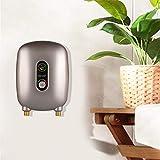 Mini calentador eléctrico instantáneo de agua caliente sin depósito, calentador de agua para cocina y cuarto de baño, 220 V, 6500 W