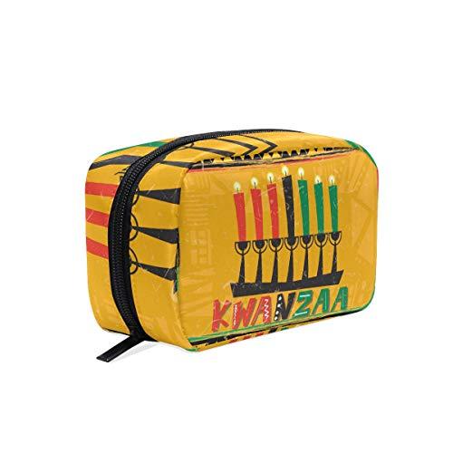 DEZIRO Happy Kwanzaa met kaars make-up zak voor vrouwen