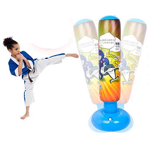 CX ECO Boxsack für Kinder Kinder Taekwondo Stehender Tumbler Kick Trainingssäule Tumbler Sandsäcke für Fitness Sport Spielen und Stressabbau,Blau