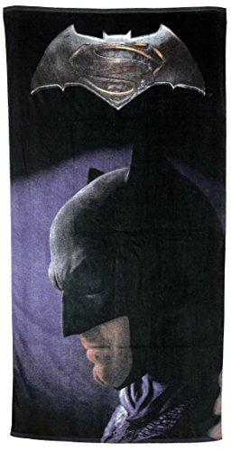 Batman vs. Superman Logo, 100% Baumwolle – ca.150 x 75 cm – 0122083 Strandtuch, schwarz, 38.7 x 25.8 x 3.1 cm