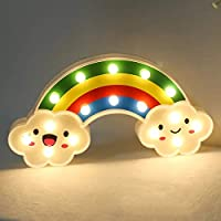 Rainbow Shape LED Marque Light Perfect for Kids Room Decoration Rainbow Light with Cell