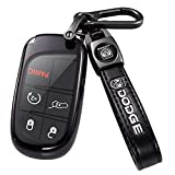for Dodge Key Fob Cover,Key Fob Cover Case for Dodge Charger Challenger Dart Journey Durango Grand Caravan RAM, Remote Accessories Protector(3 4 5-Button, black)