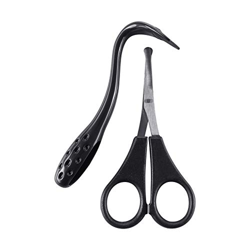 Mikki Dog, Cat Ear and Face Grooming Care Set - Scissors and Comb Set for...
