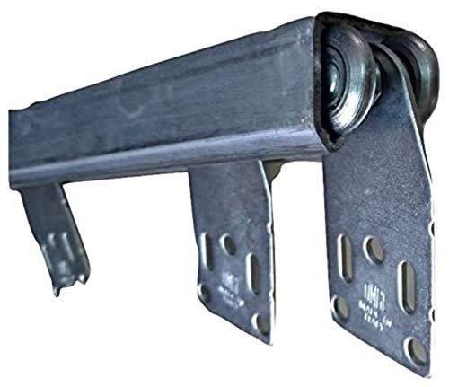 TENDEEVOLUTION Binario monorotaia in Ferro ZINCATO Completo di scorrevoli per Teli in Tessuto PVC tettoie gazebi pergole capanni, Scegli la Tua Misura (L. 200CM)