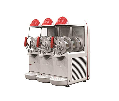 UGOLINI NG10/3 EASY - Máquina para granizados, sorbetes, cremas frías, 3 recipientes de 10 litros, dispensador fabricado en Italia