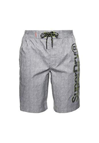 Superdry Mens Classic Boardshort Board Shorts, Silver Grey Grit, XL