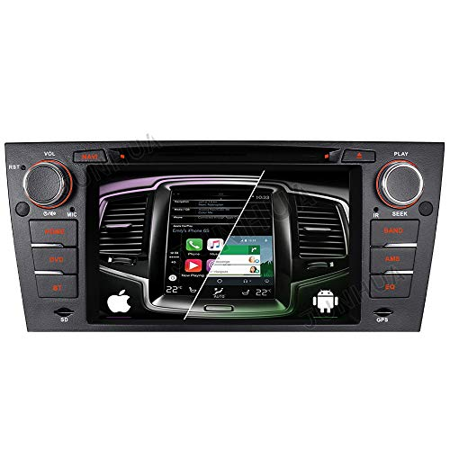 "Android 10.0 Android Auto+Carplay Dual-Tuner Autoradio Rohm-DSP Bluetooth 5.0 7"" DVD GPS für BMW E90 3 Series E91 E92 E93 DAB+ WiFi 4G-LTE USB Subwoofer AV-Out"