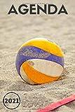 Agenda 2021 Volleyball: Agenda 2021 semainier - Format a5 - planificateur hebdomadaire et mensuel - de janvier à décembre 2021 - 1 semaine sur 2 pages - cadeau volley pour homme femme