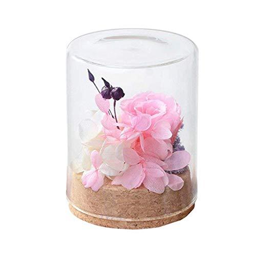 Tumao Konservierte Rose Pink, Die Ewige Rosa Rose Perfekt als Geschenk für die Hochzeit, Geburtstag, Festival, Weihnachten, Jubiläum, Valentinstag - ECHTE Rosen