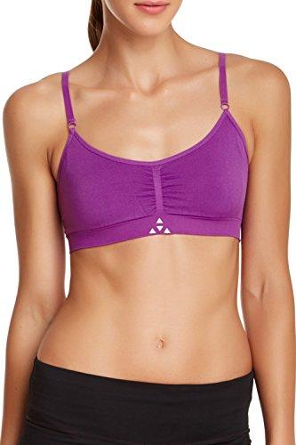 Balanced Tech Performance Seamless T-Shirt Sports Bra - Bright VioletI - Small