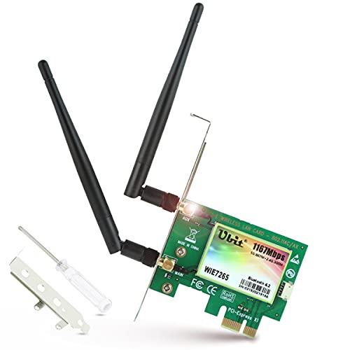 Ubit AC Bluetooth WLAN Karte 1167 Mbp/s PCIE Wireless WiFi Netzwerkkarte