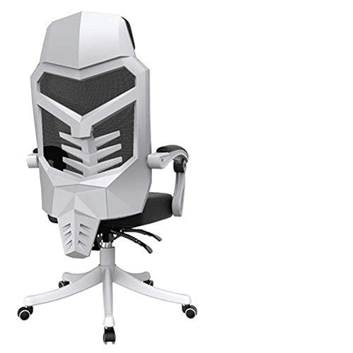 Computer stoel, Home E-Sports stoel stoel Game stoel Ergonomische stoel rugleuning Comfortabele Reclining bureaustoel Retro size Kleur: wit