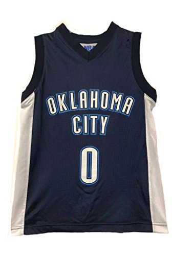 Outerstuff NBA Boys Youth 8-20 Player Name & Number Mesh Player Jersey (Youth Large 14-16, Oklahoma City Thunder Russell Westbrook Navy)
