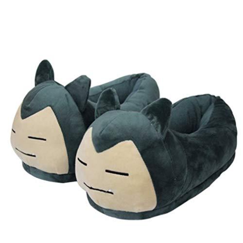 EASTVAPS Snorlax Hausschuhe aus Plüsch, Anime Flareon Ronflex für Erwachsene, 28 cm