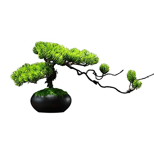 YUXINYAN Decorar Árbol de bonsái Artificial, decoración de la Planta Falsa, 8 Plantas de la casa Artificial de 8 Pulgadas, Hermosa Planta de Pino Bonsai Adornos