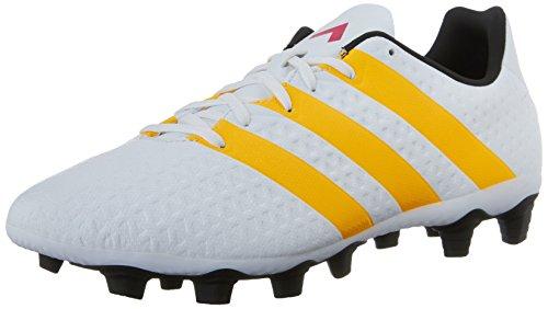adidas Performance Women's Ace 16.4 FXG W Soccer Shoe,White/Gold/Black,10 M US