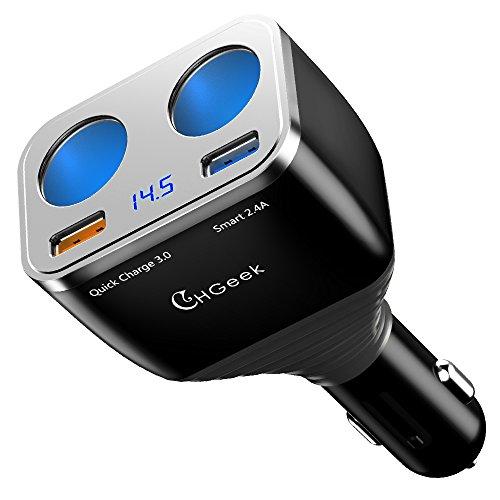 CHGeek Cigarette Lighter Adapter, 80W QC3.0 Dual...