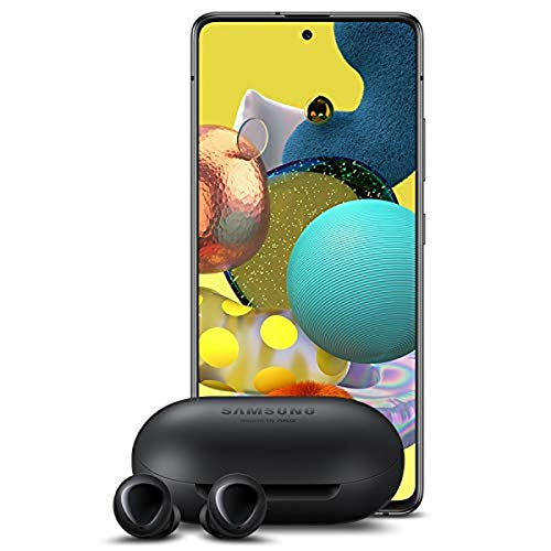 Samsung A51 5G Unlocked + Samsung Galaxy Buds, Black - US Version
