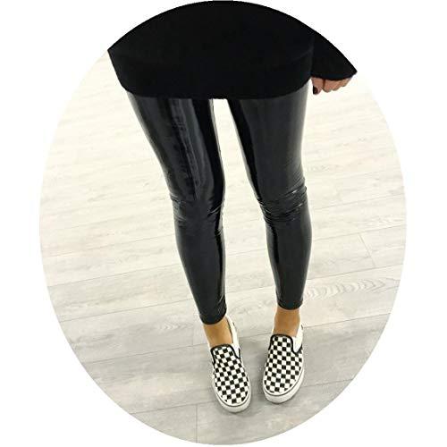 Lederleggings Reflektierende Yoga Jogginghose Piebo Damen Mädchen Yoga Leggings Damen Stretchy Shiny Sport Fitness Leggings Faux PU Leder...