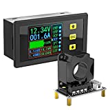 Charge-Discharge Monitor, DROK 0-90V 100A DC Ammeter...