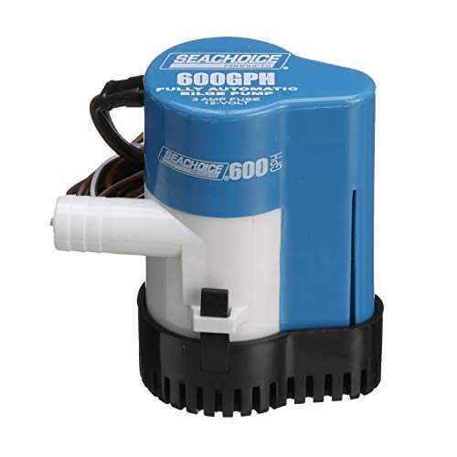 Seachoice 19341 Automatic Bilge Pump – 600 GPH – 3/4 Inch Hose Size – 2 Amps at 12V DC