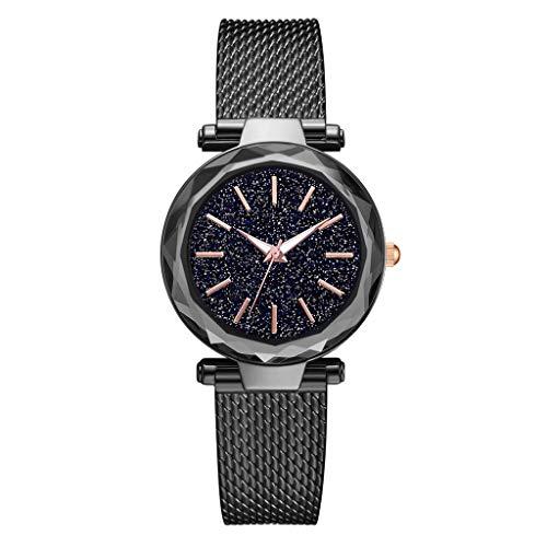 TWISFER Damen Uhren, Starry Sky Damenuhren, Frauen Sky Star Armbanduhr mit Mesh Edelstahl Armband für Business/Urlaub/Geburtstag Geschenke