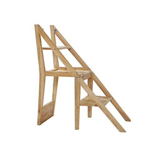 LRZLZY Massivholz Schritt Stuhl, 2 Mehrzweckhaushalt Folding Herringbone Trittschemel Indoor Blumenstand-Zahnstange Stabilität und Sicherheit (Color : Natural)