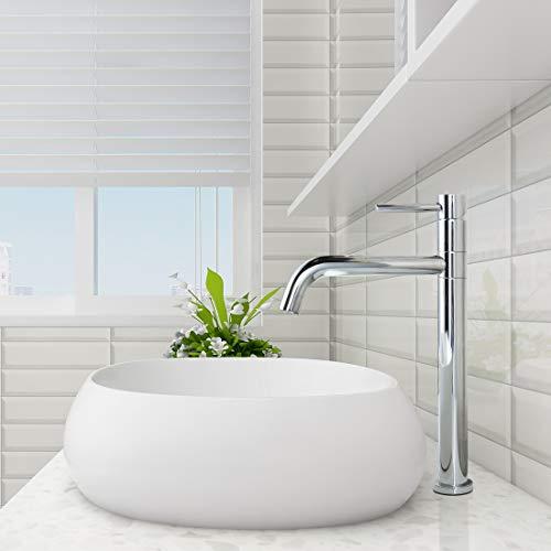 ARCORA Wasserhahn Bad Hoch Einhebelmischbatterie Waschbecken 360° schwenkbare Mischbatterie Waschtisch für Bad Aufsatzwaschbecken