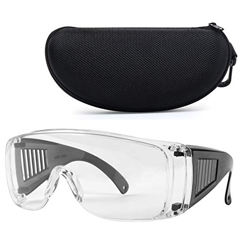 Shooting Glasses Over Eyeglasses with Case, LaneTop AntiFog Safety Goggles OTG