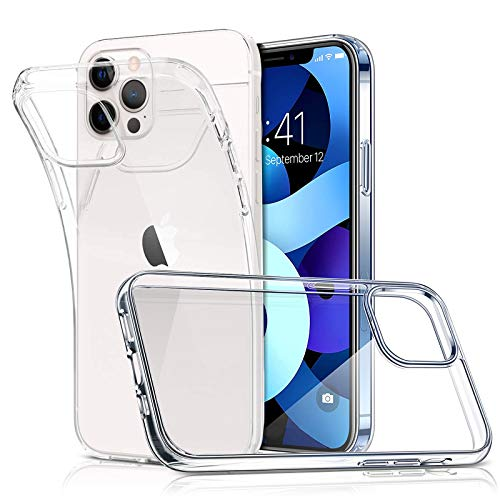 ParaPace Crystal Clear for iPhone 12 Case And iPhone 12 PRO Case(6.1 inch), [Anti-Yellowing] Slim Fit Shell [Anti-Scratch] Shockproof Soft TPU Protective Case 2020 Release-Clear