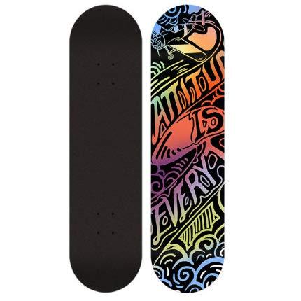 Skateboards Completa Skateboards para Deportes Y Juegos Al Aire Libre Skate Longboard Cruiser Scooter Freestyle,Letters
