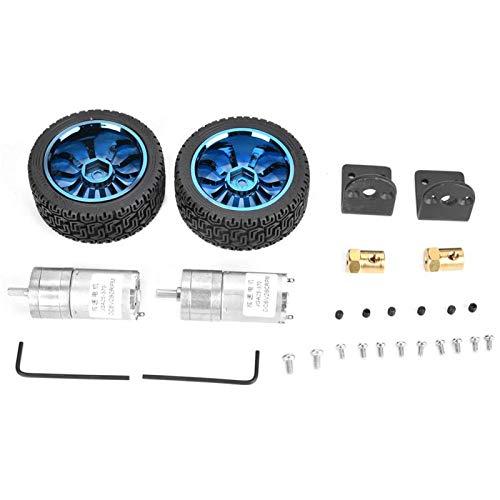 Kits de ruedas de 65 mm Motor de engranajes eléctricos, 2 piezas/juego de motor, para robot para mini impresora de coche de juguete inteligente