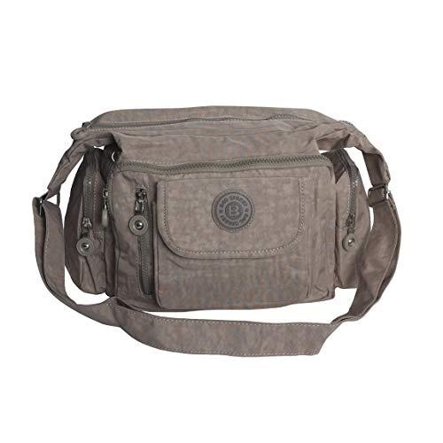 Zmoka®, Bag Street, borsa a tracolla da viaggio in nylon, colori assortiti, pietra (Marrone) - 0