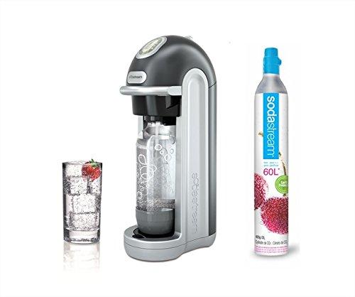 Sodastream Fizz Argent Machine à Gazéifier Plastique Argent/noir 45,5 x 14 x 23 cm
