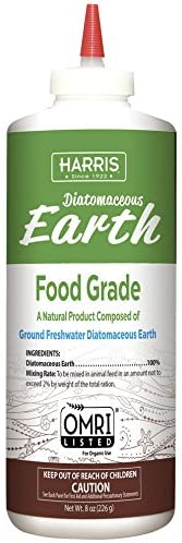 HARRIS Diatomaceous Earth Food Grade, Half Pound with Easy Application Puffer Tip