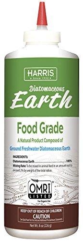 Harris Diatomaceous Earth Food Grade  Half Pound with Easy Application Puffer Tip