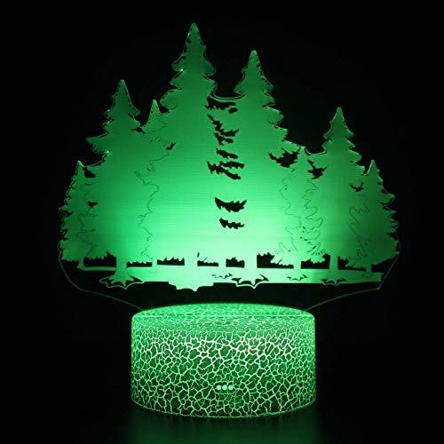 Luz nocturna 3D, lámpara de ilusión 3D, 16 cambio de color, lámpara de decoración con mando a distancia para sala de estar, cama, bar, juguetes, regalos para niños y decoración de habitación