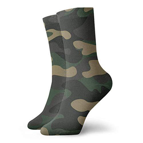 Tammy Jear Hombres Mujeres Novedad Divertido Crazy Crew Sock Camuflaje Patrón Fondo Ropa clásica Impreso Sport Calcetines deportivos 70Cm